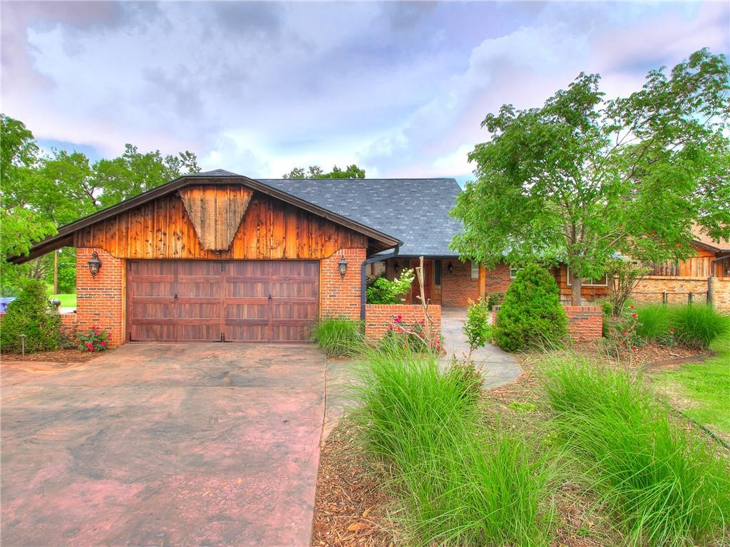 Who is looking for a home with an in-ground pool overlooking the greenbelt on a large lot with plenty of room for a shop? Also, check out the gorgeous updated kitchen! This new listing in Hall Park sit on a LARGE 0.41 acre lot. The kitchen was completely remodeled in 2014 with travertine tile, custom knotty alder cabinets, and granite countertops. Also check out the large professional series fridge and double convection oven with warming drawer! The home has two laundry areas. Laundry room downstairs with a second laundry area in upstairs master bath! No lugging laundry baskets up the stairs! New paint and carpet in 2014. New roof with impact resistant shingles in 2015. Downstairs master bath and hall bath have been updated in 2021. New flooring in the formal dining and original hardwood floors have been restored in hallways and entry closet. Easy access to the storm shelter from the garage. (Seller holds an inactive real estate license)