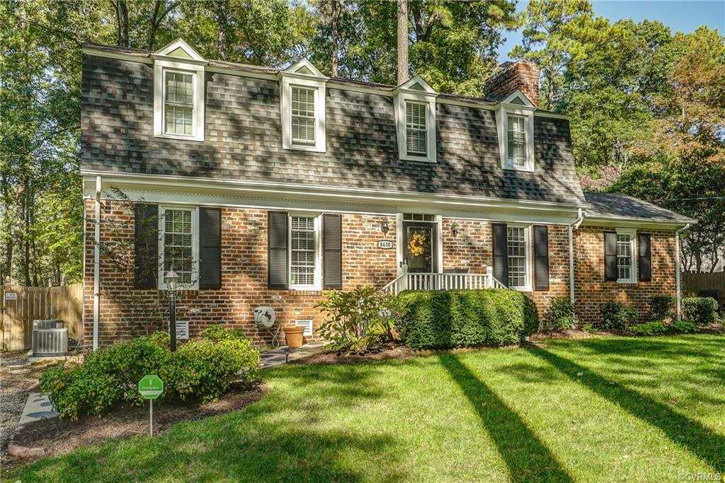 Welcome home to 8430 Cherokee Road in the heart of Stratford Hills close to everything RVA has to offer! Walk to the James River, close to shopping, restaurants, and interstates! This stately dutch colonial is move-in ready, filled with upgrades, and charming as can be! The large foyer opens to your living room, kitchen, and family room with hardwoods. The formal living and dining room have beautiful molding and family room has large fireplace and open to kitchen. Kitchen shines with custom cabinets, granite, coffee/drink bar with kegerator, stainless appliances, crown molding, and pantry. The first floor also has an office off family room with hardwoods, oversized laundry/utility room with extra storage and a pet bathing station, and half bathroom. The second floor boasts hardwoods throughout and four large bedrooms and 2 full bathrooms. Owners suite has walk-in closet with ensuite bath with granite double vanity and tile shower. The backyard is a true oasis with two patio areas, brand new large shed, and new privacy fence. In addition, both HVAC's are new in the last year with smart thermostats. This home is a must-see and could be yours just in time for the Holidays!