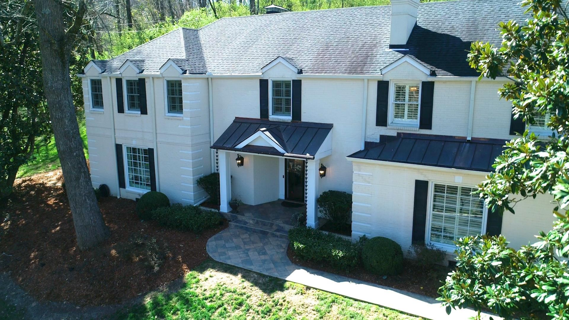 Wooded 2.77 Acres! Dual masters, New Appliances, Home Inspection complete, plantation shutters throughout, two office/studio spaces, stone patio refinished 7/20, with built in fireplace, great for entertaining.  (Warranty Included)