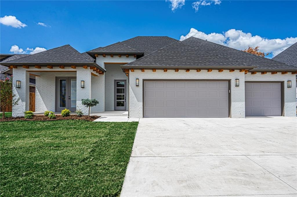 """It's a Lifestyle in this Community with pool and Private Path Walking Distance to Elementary School. This Transitional Modern home invites you to an open living area with a beautiful fireplace looking out to the 23 X 15-foot covered patio with a gas fireplace and Cable hook-up. A Chefs kitchen boasts an 8-foot island Breakfast Bar, walk-in pantry, bright lighting and open to the dining area. Master suite has a deep soaking tub, Dual Vanities and Linen. Large walk-in closet with built-in Chest. Laundry with lots of storage, sink and window Connects to Master Closet. The 2 other bedrooms are on the opposite side of the home. The office is located off the entry with a beautiful French Doors private Covered Porch. Hall Mud Bench Drop Zone. This special location is a short distance to I-35 and offers easy access to shopping, theater, golf, parks and more! Selections still Available. ASK ABOUT BUILDER INCENTIVE ALLOWANCE!"