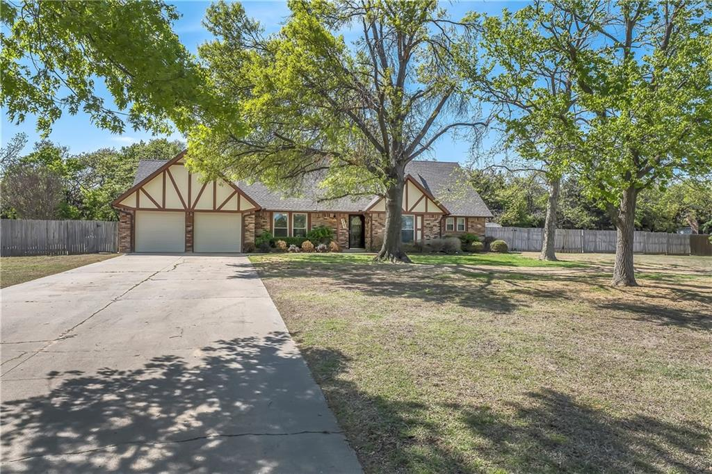 What a rare find!This charming home is nestled in the highly sought after Old Farm Estates neighborhood on a 1 acre lot in the heart of Edmond. Formal dining.Family room that has built-ins and a fireplace.Kitchen has bar and breakfast eating areas, built-in desk, lots of counter and cabinet space. Additional living area could be office or 2nd living.First floor living spaces will be the heart of your house and the flow is perfect for entertaining.4 very spacious bedrooms,2 full baths & one powder bath.Master suite is downstairs and features double vanities, new shower and walk-in closet.3 very big bedrooms and a bath upstairs.Storage galore.Private 1 acre backyard that is surrounded by mature trees is your own oasis.Perfect for relaxation or outdoor entertaining.All the sheds stay.Roof 2019.Newer windows.Well pump 7 years old.Aerobic septic 5 years old.Newer HVAC's.Neighborhood pool & park.Great location!Close to restaurants,shopping & highways.