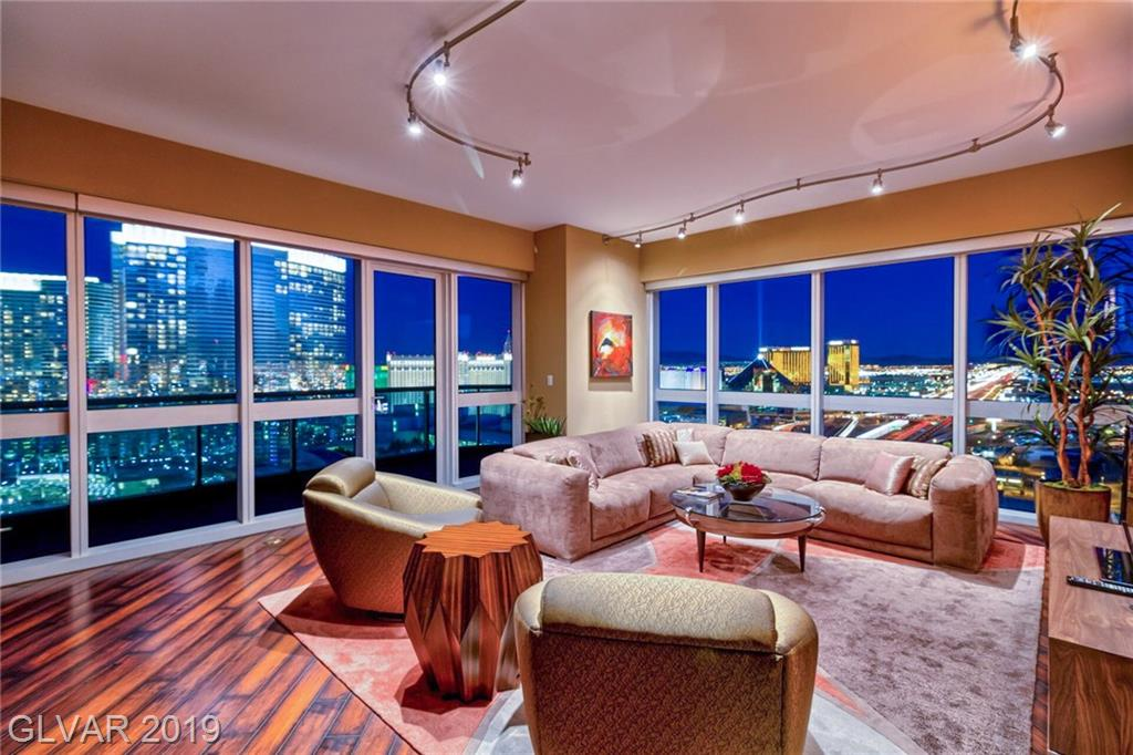 Strip and city views from this stunning fully furnished 2bd/2ba residence. Martin building amenities include a library lounge, Range Rover car service, resort style pool with day beds, grilling area, and one of the best gyms in Las Vegas high-rise. The Martin is located just steps from CityCenter, Cosmo and Bellagio.