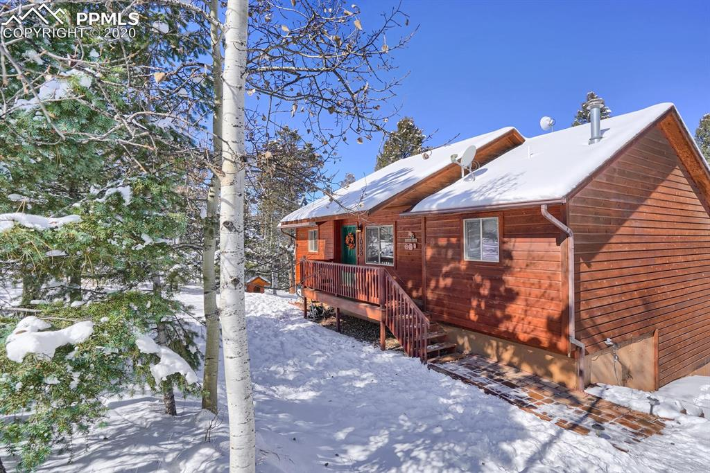 Beautiful, one owner home on 2 acres tucked in among the aspen and pine trees. Pride of ownership shows throughout. Enjoy your coffee with a view from the 10x20 deck just off of the dining room.  Main level master with adjoining bath. Walk out basement. Only 16 minutes from woodland park.