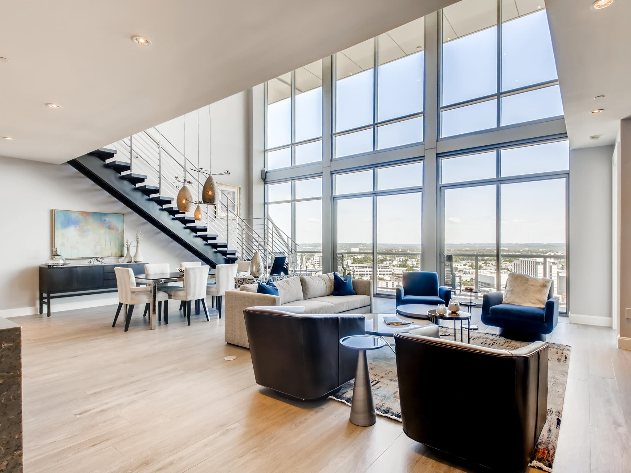 This Midtown Penthouse condo has all the space and amenities you are looking for.  Almost 3000 square feet of luxury, this unit was fully renovated in 2019.  It features 2 bedrooms and 3.5 bathrooms with an office/ den that can easily be converted to a 3rd bedroom.  The location and view can not be beat.  With 24/7 security, private ground level parking for the penthouse level, and all the other amenities the Adelicia has to offer, you won't be disappointed!