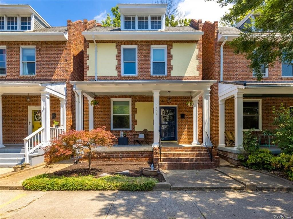 Welcome to 3154 Ellwood Ave! Located steps to Carytown in the Museum District, this home features 3 bedrooms, 2.5 bathrooms, and 1582 sq ft of living space. Upon entering the home, you are greeted by hardwood floors throughout the home. The living room features an accent fireplace, ceiling fan, and large front window. Continue into the dining room with fresh paint, ceiling fan and opening to the Kitchen which features stainless steel appliances, white cabinets, and breakfast nook with triple window over looking the privacy fenced rear yard. A full bath completes the main level. Head upstairs to find all three bedrooms including the owner's suite with sitting area, hardwood floors, and ceiling fan. Two additional bedrooms, both with hardwood floors, nicely sized closet space, and ceiling fans and a full hall bath top off the home. The finished basement adds ample flex space for storage, working out, crafting, you name it! Exterior benefits of the home include a privacy fenced rear yard, rear deck and patio, and alley access. Located 1 block to Carytown with easy access to interstates and nearby shopping + restaurants.