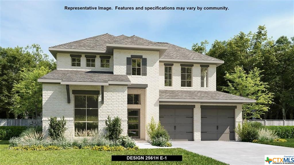 PERRY HOMES NEW CONSTRUCTION! Home office with French doors set at two-story entry. Two-story family room with wall of windows opens to kitchen and dining area. Kitchen hosts inviting island with built-in seating space. First-floor primary suite includes dual vanities, garden tub, separate glass-enclosed shower and large walk-in closet in primary bath. A second bedroom is downstairs. Two secondary bedrooms and a game room are upstairs. Covered backyard patio. Two-car garage.