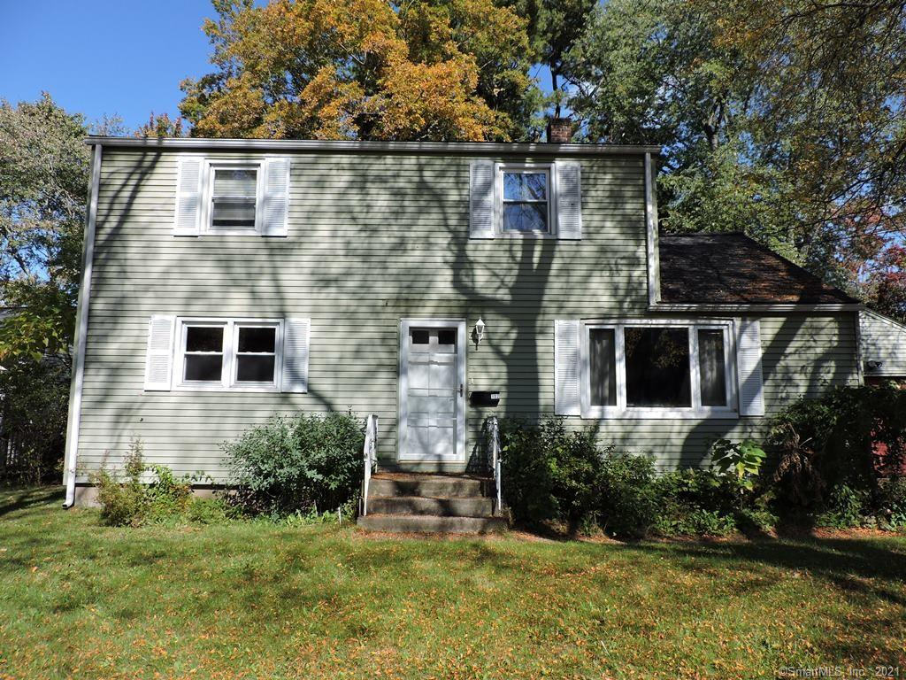 Large colonial with 3 bedrooms on the second floor.  Two full baths, one on each floor.  Kitchen w/ tile floor & backsplash. Newer refrigerator and stove. First floor has two good size rooms that can be used as an in home office, addtional bedrooms, den.  So many possibilities. Newer oil tank, hot water heater.  A whole lot of space for the price.  Level lot.  Close to Glastonbury Line.    Needs some TLC.  Property is in As-Is condition. Commission based on net to seller.   GHAR contracts only.  There are no closet doors and seller will not replace.  Ceiling damage in main bathroom was caused when daughter put too many wipes in toilet and it overflowed not from a pipe.  Upstairs bathroom floor is from the same reason.