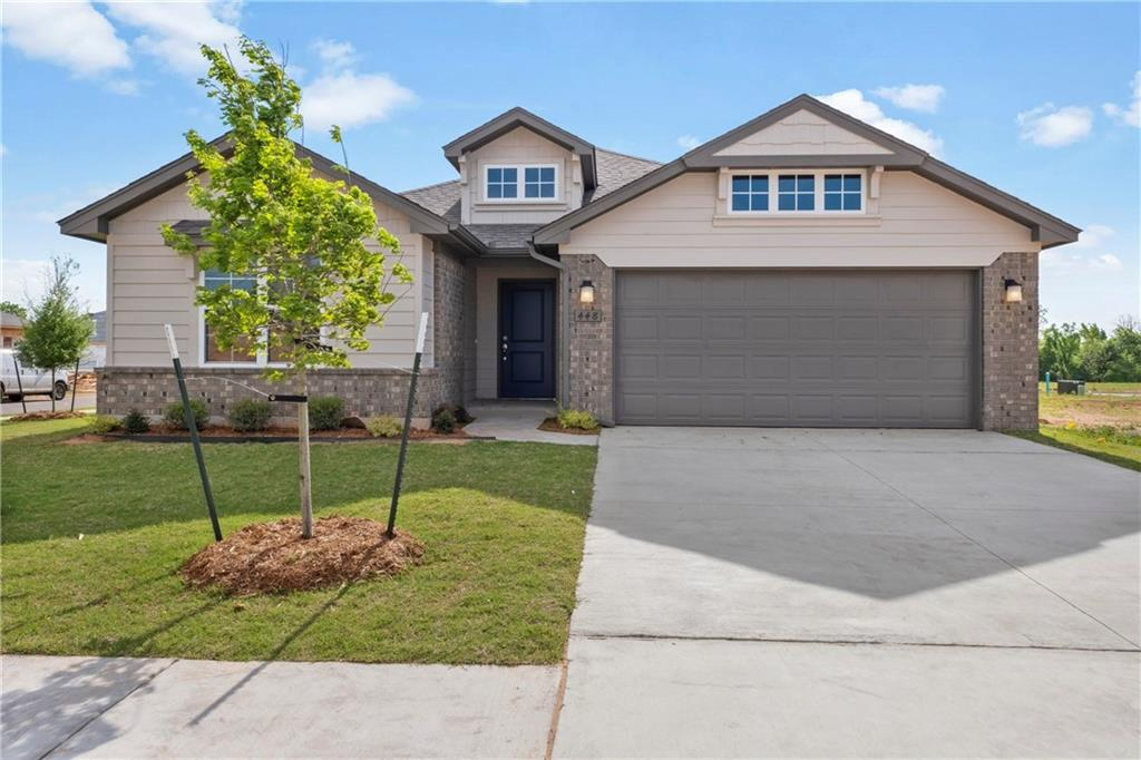 Set up on a corner lot, this brand new 3 bedroom home offers an open living/dining layout with a study, indoor utility/mudroom, large entryway, and outdoor covered back patio! The kitchen features stainless steel appliances with gas cook range and microwave, quartz countertops, glass tile backsplash, and a breakfast bar. Wood flooring all through out the living space! The home boasts an energy-efficient HERS score of 60, guaranteeing you low heating & cooling costs all year long! Scheduled to be completed in Spring 2020!
