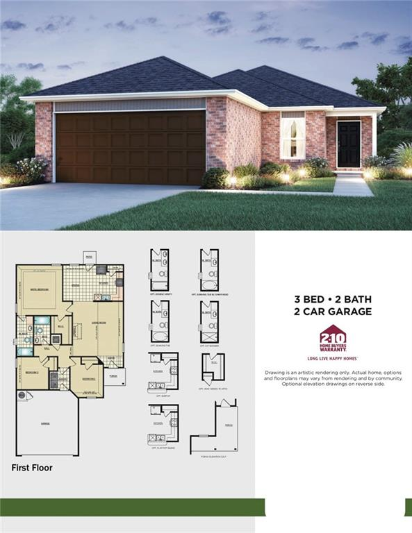 You'll love the great open floor plan in this three bedroom, two bath home.  This home has easy access to I40 and the the Kilpatrick Turnpike.  Home is currently under construction with anticipated completion in March 2020.