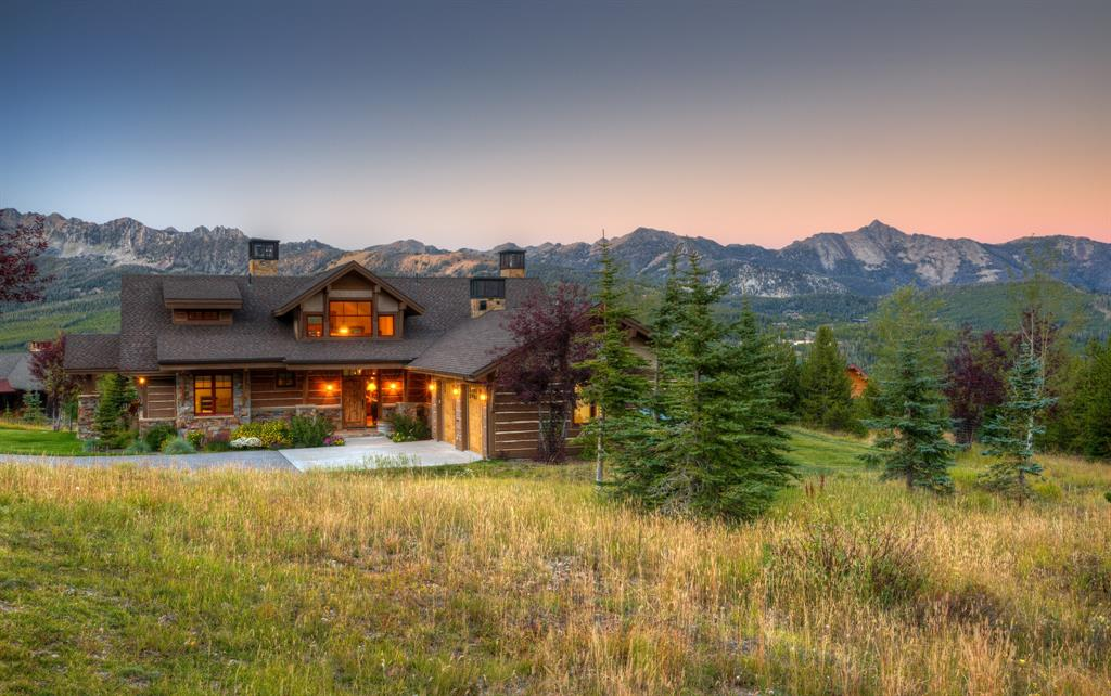 Stunning 5 bedroom, 6 bath ski-in, ski-out home at the top of Moonlight Basin's highly desirable Diamond Hitch Subdivision. Ski from your front door to either Big Sky Resort or Moonlight Basin and back. Incredible views of the Spanish Peaks and Gallatin Ranges as well as Challenger and Andesite ski runs. A gourmet kitchen, natural stonework throughout, multiple outdoor living spaces, radiant heat throughout and exquisite details make this an ideal home for the avid skier or mountain enthusiast. Enjoy the privileges that a Moonlight Basin membership offers.  A Moonlight Basin Membership is optional and available for an additional charge.