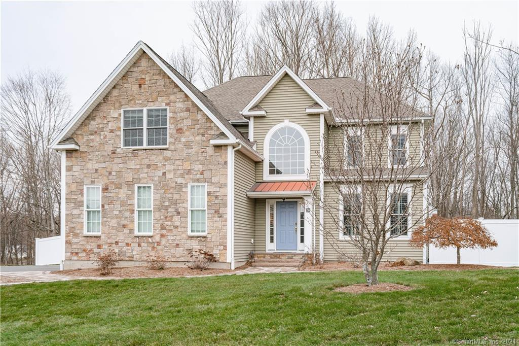 With all the bells and whistles, this 3,123 square foot Colonial should not be missed. A two story foyer welcomes you to this open concept style home. The formal living room w/ gas fireplace opens to the spacious dining room. A super bright eat in kitchen w/ center island, granite counter tops, stainless appliances, gas cooking & large pantry opens to both the fantastic family room & well proportioned IPE deck and fully fenced in rear yard! The family room also has a gas fireplace & great windows that allow amazing natural light into the home. Rounding off the main level is the powder room & laundry room. Upstairs are 5 bedrooms, each with ample closet space. A tray ceiling welcomes you to the large master bedroom w/ two walk in closets & a huge master bath w/ double sinks, jet tub & stall shower. Your dream space is found in the lower level, adding an additional 1,274 sq feet. Here is a possible 6th bedroom/workout room, full bathroom, amazing office w/ a wall of built in bookshelves & recreation area/TV area perfect for hanging out or entertaining, as well as a large bar/kitchenette which is certainly a highlight w/ granite counters & great cabinet space. The home features CAIR, fully fenced rear yard, gas heat, lawn irrigation & more. Conveniently located near the Manchester/Bolton line, you have easy access to 384 and just a short ride to dining & entertaining spots as well as downtown Hartford. Situated on a quiet cul-de-sac, yet convenient to the full neighborhood.