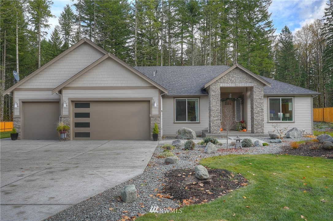 WOW, what an amazing property! You'll be beyond impressed with this beautiful, custom-built home! Enjoy 2957 sf of main level living on almost 5 acres. Open concept living with top-of-the-line amenities, features and finishes, including two master suites with spa-quality bathrooms. Covered patio with fireplace & second patio off master. Heat pump, tankless HWH, storage space in attic area above 3-car garage; RV parking, athletic court, greenhouse and custom shed. Plenty of outdoor space to enjoy, so bring all your toys! No HOA and Builder home warranty transfers to buyer. See this special property today!