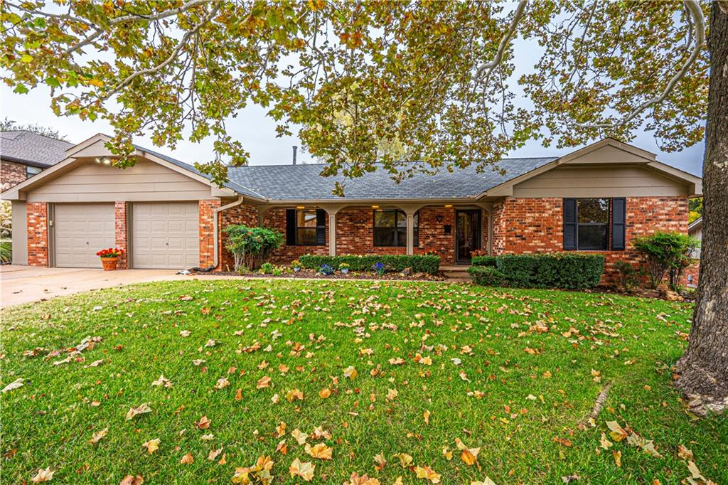 Beautiful 60's Ranch-style home in sought after Oakslawn in the heart of Edmond. Close to award winning Edmond schools, fun shopping, great restaurants and quick access to I-35 or Kilpatrick Tpke. True 4 bed, ALL ON ONE LEVEL. Two large living areas provide great space for entertaining friends and family. Original parquet wood floors in the den help maintain the 60's charm of this lovely home. Great kitchen layout with lots of room to whip up everyone's favorite meal. The spacious Master Bedroom has two closets, built in dresser and ensuite bathroom. The 3 secondary bedrooms are all good sized and have access to a large bathroom. Off the kitchen sits a large laundry room with tons of storage and a 1/2 bath. Step out back and enjoy the covered patio and spacious yard with tons of room to run & play. Several updates have been made, see supplements for details. This gem will not be available long. Schedule your exclusive showing today!