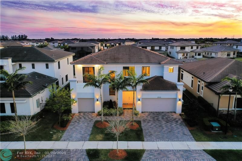 If You Are Looking For Modern & Luxury Built In 2018, Then Look No Further! Better Than Buying From Builder, As Inventory Is At A Record Low! Stunning Victoria Model w/5 Full Beds + Office + Huge Oversized Bonus Room Which Could Be Made Into A 6th Bed, 6.5 Baths Waterfront Home w/3-Car Garage! Impact Windows & Doors, Full House Generator, Updated Fixtures & Finishes.  Double Door Entry Leads You To The Soaring 21 Foot Ceilings Overlooking Back Yard, Downstairs Master Bed w/Sitting Area, Master Bath Fit For King & Queen w/Modern Floors & Quartz Counters, Separate Tub & Shower, Walk-In Closets, Spacious Kitchen w/Quartz Counters, Island, Stainless Steel Appliances, Huge Bonus Room Could Be A Movie Or Game Room, Resort Style Amenities, 24-Hour Guard Gated, A-Rated Schools, & Close To Parks.