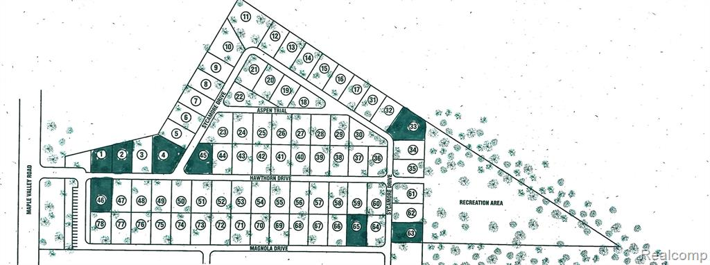 Great Investment Opportunity! Maple Valley Estates is a residential, manufactured homes community in Brown City. Nearing 20 acres, this is a fully developed community with 70 vacant lots and common areas. All utilities installed, natural gas, electricity, and water are metered for each lot. Zoned residential manufactured community, ready to build.  Agent Owned. BATVAI