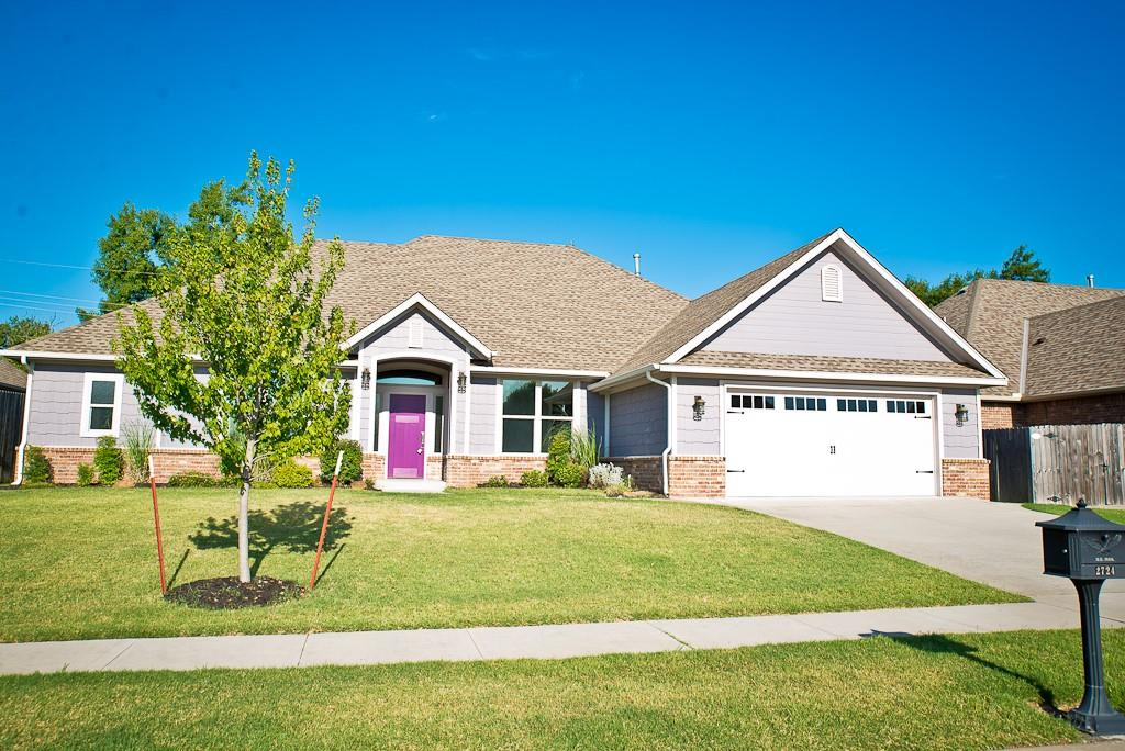 This open concept home is sure to wow and has plenty of rooms to use! There are 4 bedrooms (master and 1 other have their own attached bathrooms, the other 2 have a Jack & Jill bathroom), 3.5 bathrooms, a bonus room (on first floor off of the kitchen area) and a designated study (near front door by half bath). The kitchen has unique lighting overhanging the large island, Frigidaire Professional series built-in gas stove top w/ griddle, farm sink, granite counters, subway backsplash, large pantry w/ auto light, under cabinet lighting and refrigerator to stay. The living fireplace has decorative tile and wood mantle. Master bedroom suite has large walk-in closet w/ built-ins, double vanities, Jetta tub, shower and ample cabinets. Other amenities: storm shelter, large covered patio w/ gas hookup, laundry area with cabinets & sink, mud bench by backdoor and granite windowsills throughout the home.