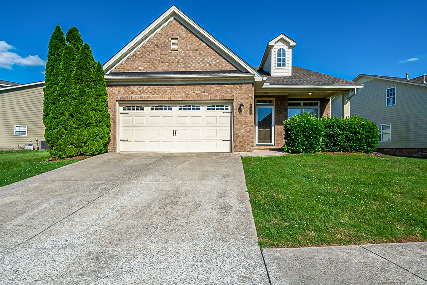 This Nolensville one-story home offers a two-car garage.