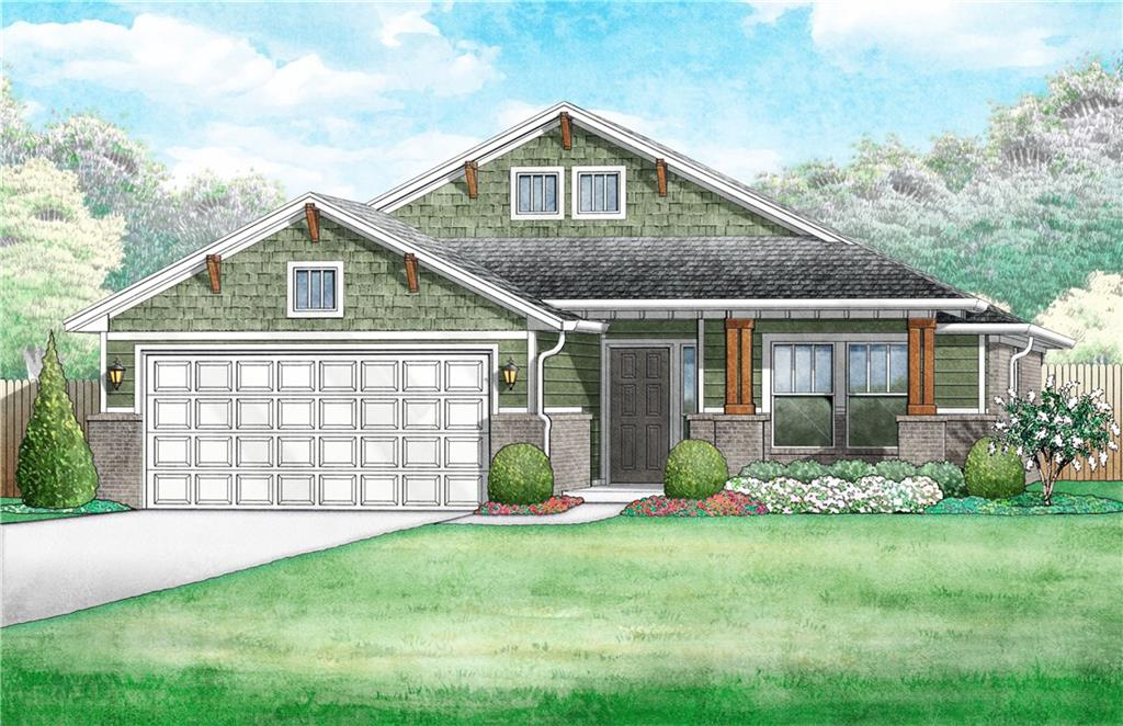 This brand new 3 bedroom home offers an open living/dining layout with an indoor utility/mud room and outdoor covered patio. The kitchen features stainless steel appliances with gas range, microwave, tile backsplash, quartz countertops, and a breakfast bar. Enjoy the warmth of an easy-start gas fireplace in the living area! The home boasts a HERS score of 64, guaranteeing you lower heating/cooling bills all year long! This home is scheduled to be complete in July 2020! Deer Creek Schools.