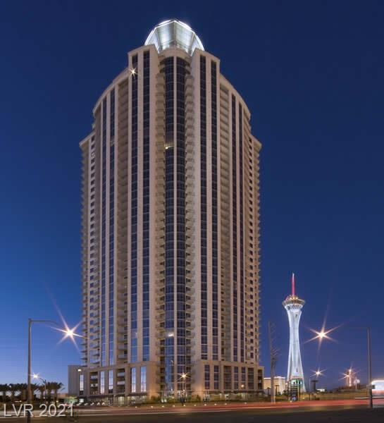 Fantastic FULLY FURNISHED one bedroom with den on very high 35th floor of Allure Tower. Unit has wood flooring, stainless appliances and floor to ceiling windows. Sweeping views including downtown, Stratosphere and surrounding mountains. Close to the Sahara for dining and gaming. Easy access to the strip.