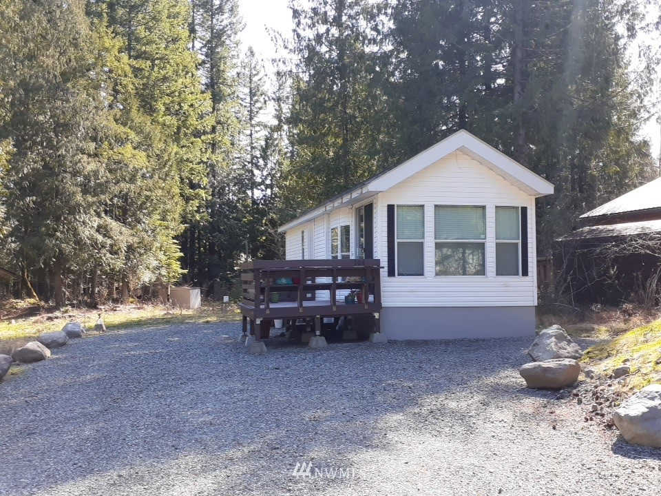 Adorable well maintained park model on High Valley Park #1 lot with new 3 bedroom septic and new comp roof. Subject to tenant rights. 1 bedroom & 1 bath. Great setting with easy access to Cannon Rd and Packwood on Highway 12. Cash only as this home has been moved from original placing. Or add a garage/shop. Close to Skiing at White Pass, Gifford Pinchot National Park and Mt Rainier from Stevens Canyon entrance. Enjoy hiking, fishing, biking or just relaxing! Lots of room for your ideas! Make your appointment to see this cutie today!