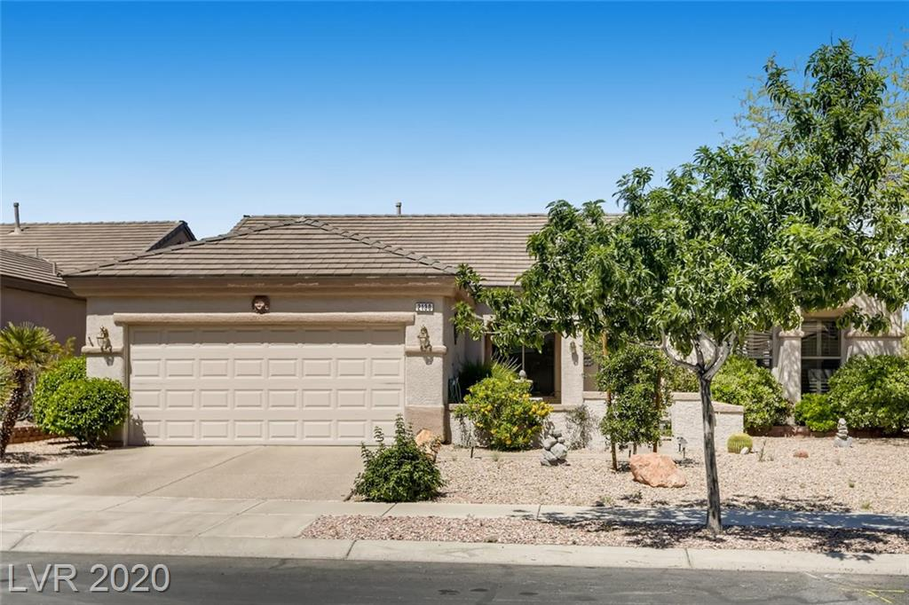 RARE TERRAVITA Model w elevated lot and panoramic MOUNTAIN VIEWS. Nice curb appeal--have breakfast in the pretty courtyard. Large covered patio in the back will be great for evening barbecues. Great VIEWS of the entire VALLEY. Vaulted ceilings thru out and OPEN FLOOR PLAN. PLANTATION SHUTTERS. LOTS of light and windows. Den can easily be converted into a third bedroom. The OFFICE has additional cabinetry. Kitchen is large with GRANITE COUNTER TOPS and double oven. LARGE open, light and bright MASTER SUITE w walk in closet. FRENCH door leads onto patio from Master Suite. Epoxy drive, central vac, water softener. All appliances remain. Sun City MacDonald Ranch offers an 18-hole GOLF COURSE, sparkling swimming pool, spa, TENNIS, fitness center, and year-round events. Residents enjoy palates, various dance, annual fashion shows, trips to the Strip for live entertainment and much more.