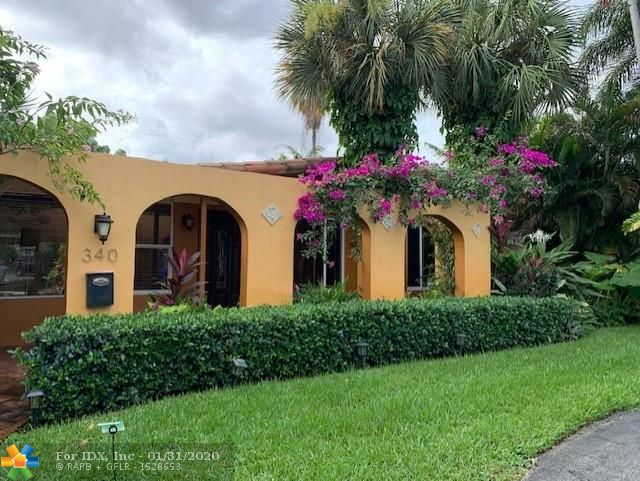 ENTERING THIS LOVELY SPANISH STYLE WEST WILTON MANORS HOME THROUGH A COVERED COURTYARD.  ENJOY RESORT STYLE LIVING IN THIS 3 BEDROOM HOME PLUS AN EXTRA BEDROOM/DEN/MEDIA ROOM. RELAX BY THE HEATED POOL AND SPA IN PRIVATE FENCED SETTING ADMIRING THE PROFESSIONALLY MAINTAINED TROPICAL LANDSCAPING. THIS HOME ALSO INCLUDES CUSTOM BUILT CLOSETS, UPGRADED KITCHEN AND BATHS, NEW APPLIANCES, SPANISH TILE FLOORING AND LAMINATE IN BEDROOMS, AIR CONDITIONER REPLACED IN 2015, IRRIGATION SUPPLIED BY WELL AND PUMP IS 1 YEAR OLD.  HOME IS PERFECT FOR EITHER PRIVATE OR VACATION RENTAL.