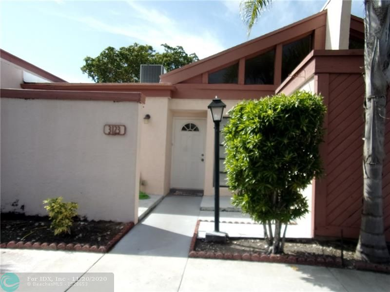 SHOWS BEAUTIFULLY. TOTALLY UPDATED INSIDE. SS APPLIANCES. RECENTLY PAINTED. 2 WALK IN CLOSETS, LOADS OF CABINETS IN KITCHEN WHICH HAS A SEPARATE BREAKFAST AREA. LARGE CAPACITY WASHER & DRYER  NEW A/C  LARGE PATIO, LOW MAINTENANCE.  NEAR MAJOR SHOPPING. SAWGRASS MILLS, PUBLIX. WALK TO NEW ALDI'S & WALGREENS.    Seller is offering $3000.00 back to buyer for any updates they might want. CASH at closing.
