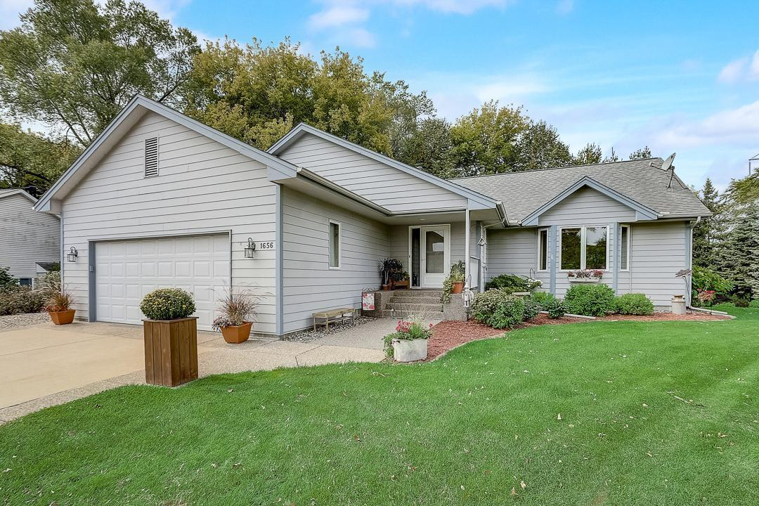 Lovely move-in ready 1-story home on a spacious cul-de-sac lot! Close to parks, schools, historic downtown Chaska, access to Hwy-212 & more! Hardwood floors throughout much of main level + updated luxury vinyl flooring. Beautiful 12-foot vaulted ceiling through main level living spaces. Large sun-filled living room & open dining great for entertaining + deck access! Kitchen has vaulted ceiling with skylight, an abundance of storage, center island with seating & more. Main level Master bedroom is roomy with walk-in closet & backyard view. 2nd bedroom & full bathroom on main level with separate shower & whirlpool tub. Convenient main level laundry. Spacious lower level with family room, adjoining recreation space, 2 more bedrooms, full bathroom & great storage. Brand-new furnace! Attached 2-car garage has extra deep stall with workbench. Big backyard with wonderful 2-tiered deck, garden, storage shed + backs up to old farmstead offering tons of nature including pheasant & deer!