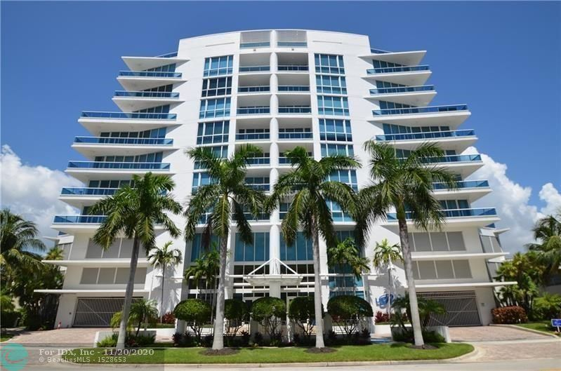 La Rive is a stunning contemporary boutique luxury condo building with only 36 residences designed by renowned architects GarciaStromberg.Location is key directly along the Intracoastal waterway in the lively neighborhood of North Beach Village. This immaculate residence delivers an open kitchen featuring newer s/s high-end appliances & granite counters opening to a spacious living room great for entertaining. Generous master bedroom & bath w/ large walk-in closets. Custom features and finishes throughout with views of the Intracoastal, partial Ocean and the park. This fully secure, amenity rich building is 24hr lobby staffed w/ modern fitness center in, sunset Intracoastal pool w/ BBQ area. Fort Lauderdale's pristine beach is only blocks away with many dining & entertainment options.