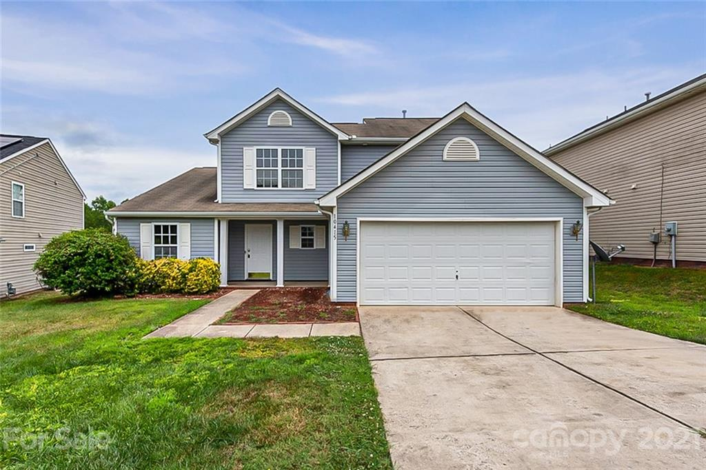 This Charlotte two-story cul-de-sac home offers a two-car garage.