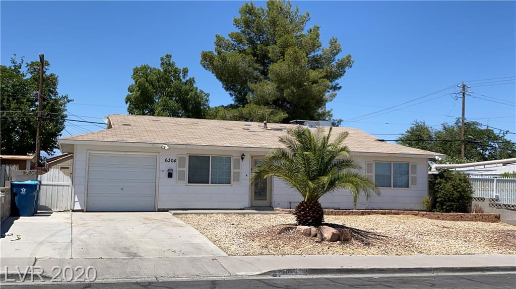 Nice single story home with huge backyard , 3 Bedroom plus Den , New paint ,ceramic and laminate floors through out. All appliances included. Part of the garage was converted to a den or small room and the remaining was kept as a storage area. Nice backyard with covered patio, storage sheds , dog run. near CSN - College of Southern Nevada.