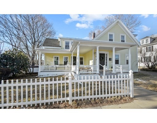 **Offers due Sun, 4/11 by 1:30** Location!!  Close proximity to popular downtown Hudson - enjoy restaurants, shops, parks & the bike trail!  This tastefully updated, completely renovated, 3 bed 2 bath Colonial has charm & lovely details - complete w/ a white picket fence! Relax on the quintessential wrap-around farmer's porch. Gleaming HW floors throughout. Welcome guests into the bright & airy living room boasting a fireplace w/ detailed tile surround. Open concept dining room & kitchen offer easy entertaining. Showroom-style kitchen with SS appliances, granite countertops, ample storage, and a large kitchen island. Convenient mudroom w/ California Closet off the kitchen leads to the back deck. Full bath with laundry completes the level. Upstairs find 3 generous sized bedrooms with plenty of natural light & ample closet space (2 walk-ins with California Closets) & updated 3/4 bath. New roof & hot water tank(2020). Custom window treatments throughout.