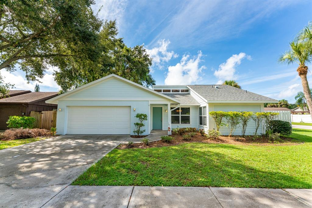 """Updated 2 bedroom 2 bath home less than 5 miles to Siesta Key Beach and Downtown Sarasota.  This home centrally located near Proctor and Swift Rd.  New roof (2021), new carpet, paint inside/out, impact sliders (being installed in October) and an updated kitchen (2015).  Split floor plan with the living room/dining room combo in the middle of the home, great natural light and vaulted ceiling in the living room.  Kitchen has granite countertops, white shaker cabinets and white appliances.  Master bedroom has a good sized walk in closet, en-suite with pebble shower floor and 3/4"""" glass door and sliders to the patio.  Bedroom 2 has good natural light and custom closet.  Large screened in covered patio off of the main bedroom and living room.  Plenty of storage room in the 2 car garage.  Fully fenced in backyard with good shrubbery and a 10x10 shed. Located minutes to shops, restaurants, Riverview HS and much more."""