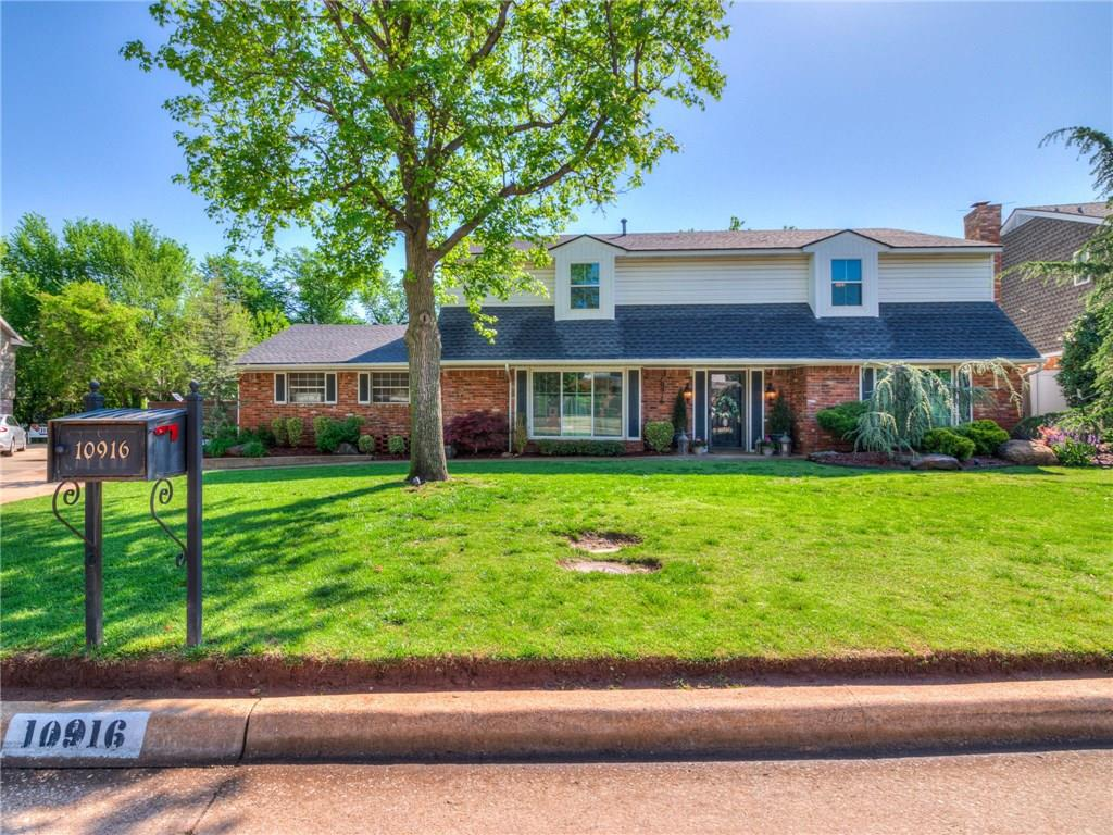 This spacious two-story home has it all: ample living space, lush landscaping and a large private backyard in one of OKC's most exclusive neighborhoods. This stylishly updated home features built-ins, porcelain wood-like flooring throughout and loads of natural light. The kitchen is full with counter space and ready to use with updated appliances, granite countertops and a walk-in pantry. The light-flooded living room is perfect for entertaining with a bar area and wine fridge. The over-sized office could be a second living and the playroom makes the perfect formal dining. Flexible living at its finest. The second level features four bedrooms with oversized closets. Double vanity sinks are found in the master and secondary upstairs bath. The space flows to the large, landscaped backyard and two-car garage which features a 12 person storm shelter. With quick access to the Hefner Parkway and close proximity to parks and schools, don't miss this opportunity for upscale suburban living!