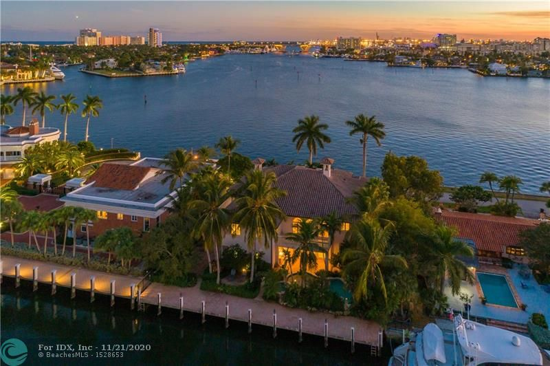 THE BEST VIEW OF FORT LAUDERDALE IS FOR SALE!!! This stunning Mediterranean mansion is sitting on one of the most precious waterfront lots the city has to offer. Located in the historic neighborhood of Rio Vista, which is incomparably beautiful and well maintained. Allowing majestic resort style living with exceptional views, design and craftsmanship. This three story home sits upon 100' of prime waterfront, features a massive master bedroom with his and hers bathrooms & walk in closets, soaring ceilings, marble floors throughout, and gourmet chef's kitchen. This unique style and location makes this perfect for someone that is in search of something special.