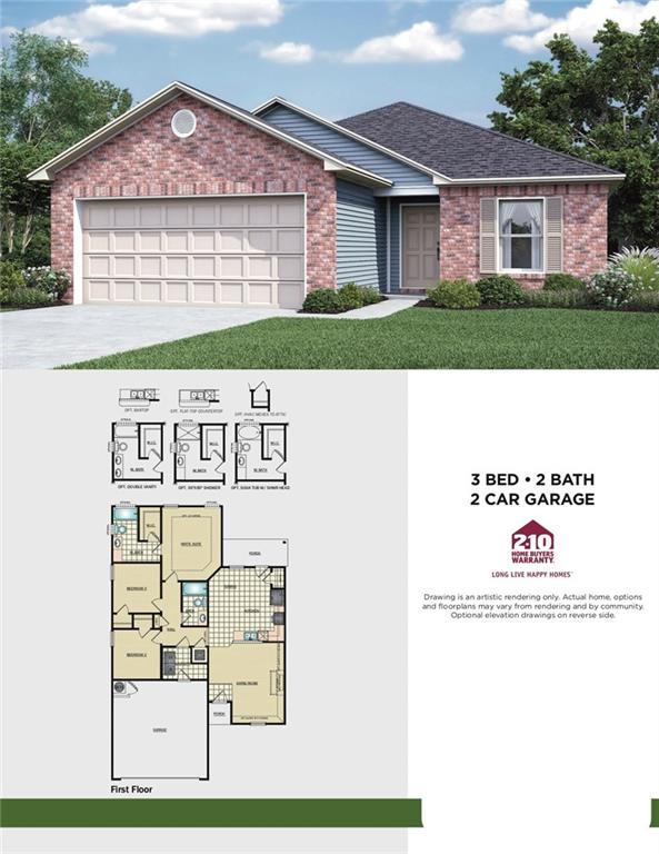 New Construction Home with open floor plan.  Photo is of a similar home. Home has not yet started and will be finished between December 2019 - January 2020.