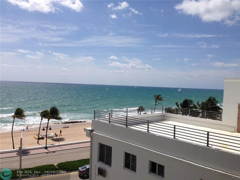 Beautiful sunny southern exposure. Prime corner unit.  Move-in ready! Newer kitchen and baths.  Tile flooring throughout. Washer & dryer inside unit! Impact glass windows and sliders. Oceanfront building in the heart of Ft Lauderdale beach. Walk to all beach activities, night life, shops and Las Olas. Hop on water taxi 1/2 block away. Updated building with 24 hour security, gym and heated pool.  Building undergoing restoration and installing glass railings on balconies. Small pets and leasing ok!