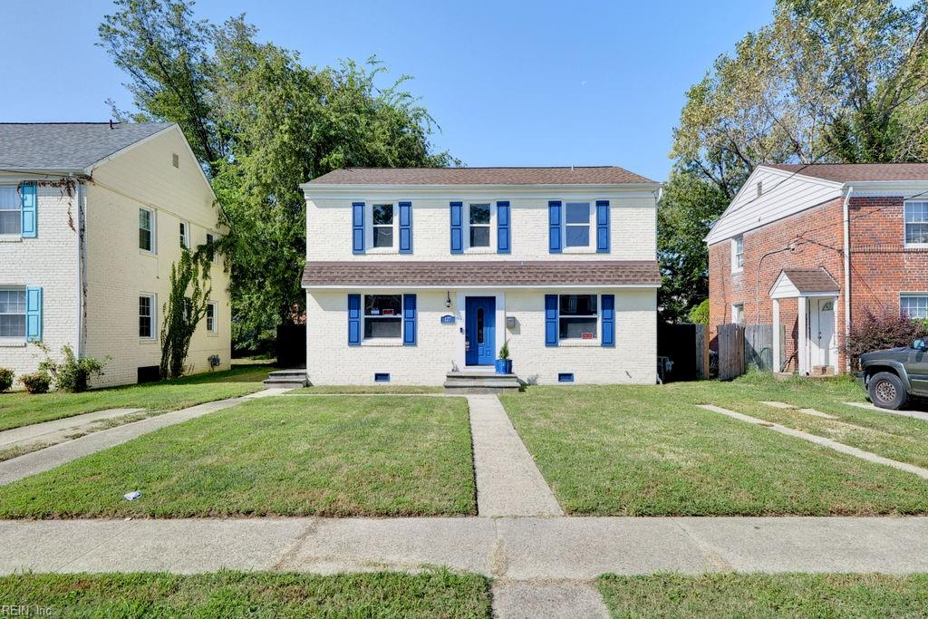 Completely renovated 4 BR, 2 BA in desirable Wythe neighborhood in Hampton. New roof, electric, plumbing, windows, & HVAC installed in 2015/2016, shed added in 2017, new concrete patio installed summer 2021. Water line replaced 2021 & sewer line replaced 2017, while a partially encapsulated crawl space was installed in 2021. Freshly painted exterior doors & shutters. Privacy fence partially replaced this summer. All of the hard work has been done, now all you have to do is move in! Beautiful laminate flrs greet you as you enter, flowing into well laid out first flr. Gorgeous kitchen w/ laminate, subway tile, & stainless appliances & storage. Spacious living & dining rms make entertaining or daily life a breeze. 1st floor bdrm great for guests, complete w/ full bth. Upstairs are 3 additional bdrms, including large primary w/ en suite. Utility closet is conveniently located upstairs. Outside, enjoy fenced & huge backyard. All located just minutes away from downtown Hampton. Welcome home!