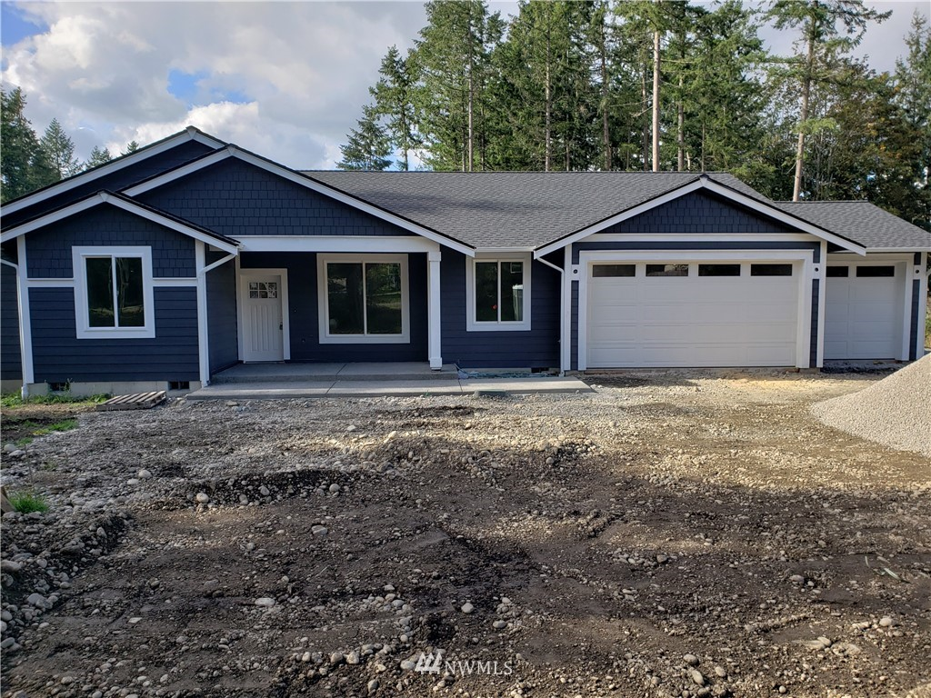 SHY 2000-SF CRFTSMN RAMBLER on 2-AC of GORGEOUS DRY LAND. HOME is FILLED w/WHITE PAINTED MILLWRK, TALL & VAULTED CEILGS, QUARTZ COUNTER-TOPS, SOFT-CLOSE CUSTOM CABINETS & A CHEF'S KITCHEN, GREAT COLORS, VP-FLOORING, TILE FLOORING & LOTS of NATURAL LITE. AND IT'S ALL HEATED & COOLED w/ ENERGY EFFICIENT HEAT PUMP + propane F.P. & Stove/Range & HWH...DRAIN-FIELD & STORM SYSTEM is Designed & INSTALLED for a Future DETACHED: ADU, SHOP, GARAGE etc.. All you need is one Septic Tank for easy Bldg Permit