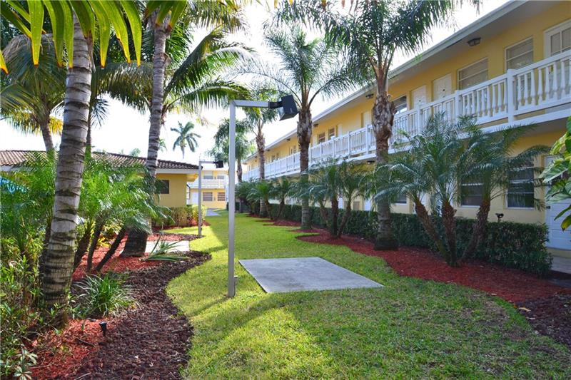 ATTENTION INVESTORS!  THIS COMMUNITY IS A SOUGHT AFTER COMPLEX CLOSE TO RESTAURANTS, STORES AND MINUTES TO WILTON MANORS.  LONG TIME TENANT COULD STAY OR GO --UNIT IS TILED AND HAS AN OPEN CONCEPT.  EXTRA HALF BATH A PLUS.  LOTS OF CLOSET SPACE--COMMUNITY IS SURROUNDED BY SINGLE FAMILY DWELLINGS AND UNIT OVER LOOKS POOL AND CLUBHOUSE.  LOW MONTHLY FEES AND COMPLEX HAS NO SPECIAL ASSESSMENTS PENDING.  A WELL-MANAGED COMMUNITY--PERFECT FOR A FIRST TIME HOME OR FOR INCOME PROPERTY.  PETS ARE WELCOME!