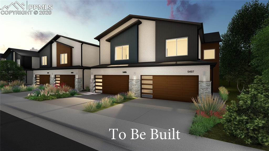 Stellar new townhome project on the east side of Colorado Springs. Plans also available three bedroom and two bedroom units.Very spacious units with over 1800 sqft and basement units with over 2600 sqft. large two car attached garage for each unit. Granite Kitchen counter and stainless appliances. Modern design inside and out. Contract early to pick out your own design choices. This plan has two large bedrooms with attached baths and walk-in closets. Expected to be available to move in Late Fall 2019.