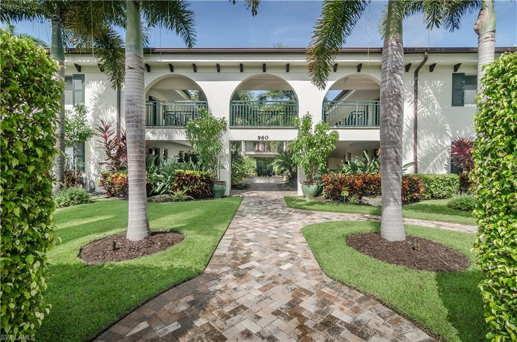 Awesome turnkey condo in the heart of downtown Naples! Walk and bike to the beach, Cambier Park, 5th Ave S, 3rd St S, Naples Pier, Naples City Dock, dining, shopping, galleries, and more. This 1st floor corner end-unit is perfectly renovated. Well-appointed 1 bedroom/1 bathroom home with quality fixtures & finishes throughout. Cozy & modern coastal interior design with lovely turnkey furnishings. Washer & dryer included inside residence. Large kitchen pantry. Impact-resistant door/windows provide secure storm protection. Live in style, comfort, convenience, & luxury. Spacious layout. Clean & very well-kept. Pet-friendly. Rentals are allowed and the location in Olde Naples is amazing, making this a very wise investment.