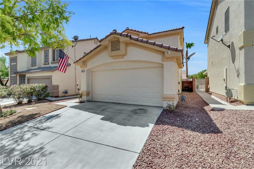 This meticulously maintained 2 story home features tons of upgrades and won't last long! The entire exterior of this home has been revamped with a fresh coat of paint, new seamless desert landscaping, and also features a spacious yard with a covered patio and private pool. This 3 bedroom 2 1/2 bath home comes complete with upgraded kitchen quartz counter tops, a new dishwasher and sink, as well as brand new plush carpeting up the stairs all throughout the second level. The large master bedroom accentuates a spacious walk in closet, dual vanity sinks with a separate shower and tub. Also conveniently located on the second story is the laundry space, and two more secondary rooms that connect with a Jack n Jill full bathroom. This homes great location is minutes from shopping, dining, and more!