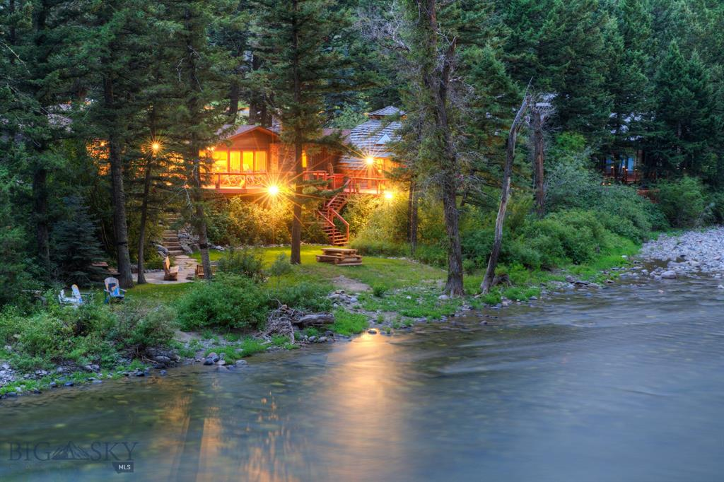 FLY FISHING PARADISE!!! This property is the quintessential Montana river home! While a portion of the home (the dome) was originally built in 1968, the main home was built in 1993. In addition, the Sellers had a thorough remodel done in the past few years, including a fully remodeled kitchen, a new rock fireplace, remodeled master bedroom and bathroom, wood wainscoting throughout, new trim and doors throughout, all new flooring, and a new roof. 3 bedrooms, 2 baths, and .78 acres of river frontage! 20 minutes to Big Sky Resort, and 20 minutes to Bozeman. This home is truly a river enthusiasts dream come true! Fly fish right out your back door!
