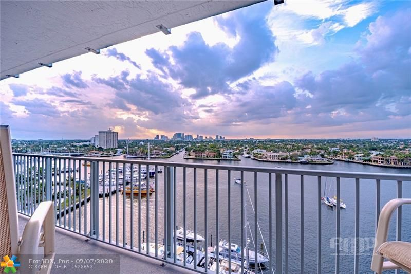 DESIRABLE NE CORNER UNIT AT THE PORTOFINO. THIS TURNKEY 12TH FLOOR UNIT HAS TWO LARGE BALCONIES WITH WRAP AROUND VIEWS OF THE INTRACOASTAL, CITY AND OCEAN VIEWS. THE PORTOFINO IS A FULLY UPGRADED BUILDING IN A PRIME LOCATION CLOSE TO LAS OLAS BLVD, FORT LAUDERDALE BEACH, AND THE ANNUAL BOAT SHOW. THE SPACIOUS 2 BEDROOM PLUS DEN/OFFICE, 3 BATHROOM UNIT IS FULLY UPGRADED WITH STATE OF THE ART KITCHEN, HIGH IMPACT WINDOWS & SLIDING DOORS TO THE TWO EAST & WEST EXPOSURE BALCONIES, 2019 A/C. Schedule your private showing of Ft. Lauderdale best condo live stile for location and amenities. Boat docks are available on first come first available base. Water taxi access & more.