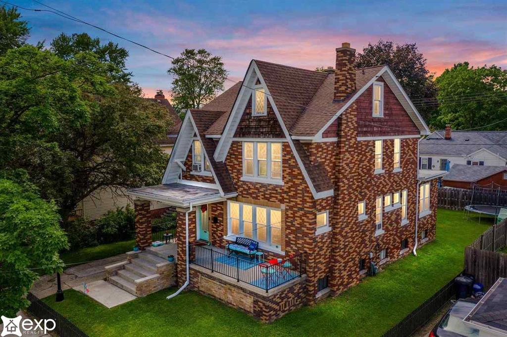 Buyers unable to secure financing and this amazing home is back on the market.   Curious about lake life living? Live the Pure Michigan life in this original home belonging to an Admiral, just 2 blocks from Marine City Beach and it's quaint downtown on the St. Clair River. This home originally belonging to a ship's admiral has 4 large bedrooms, 1.5 baths, large updated kitchen with granite countertops, a wrought iron fence in the front yard with a privacy fence in the backyard. The home boasts leaded glass doors throughout the home and beautiful windows throughout the whole main floor, the details to this home are not to be missed.