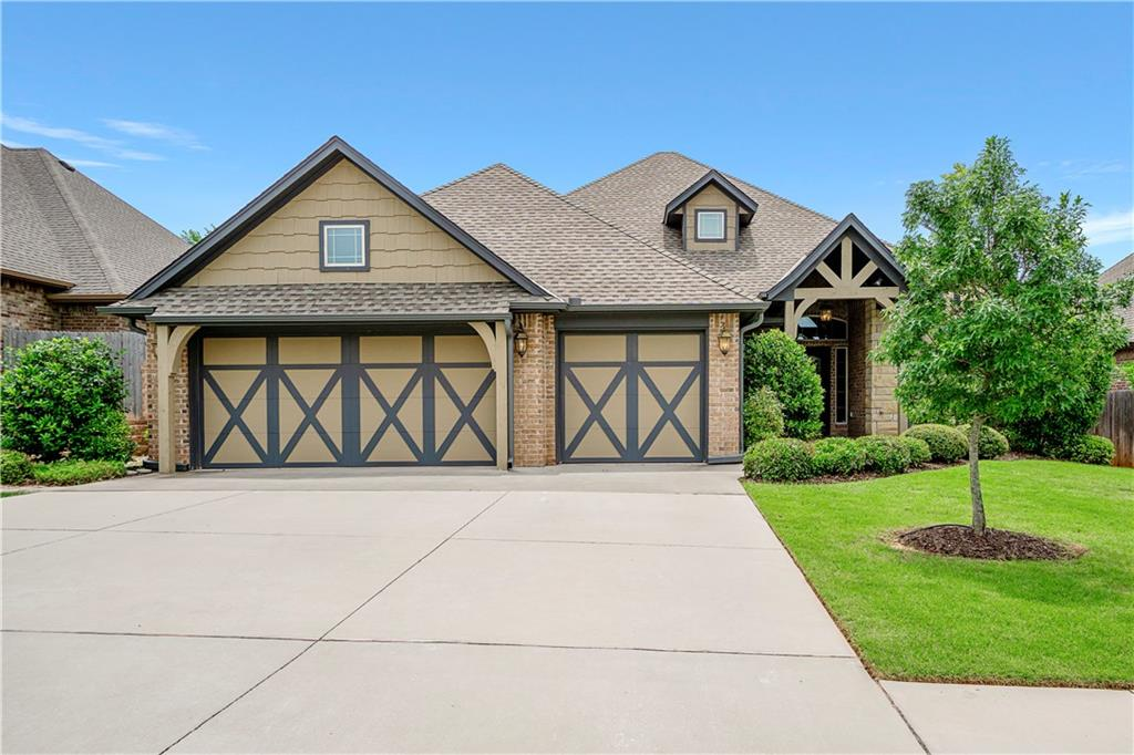 This home offers so much! Located in a great subdivision with a community pool and club house. It also offers 4 bedrooms plus an office, formal dining, beautiful hand scraped wood floors, refinished in March of 2019. Granite counters throughout, tile backsplash, pot filler over stove, dishwasher replaced in 2017. Stacked stone and wood fireplace, vaulted ceilings in living and office. Office offers custom wood wainscoting and wood floors. Trey ceiling in master with accent lighting, walk-in closet with 3 tiers for extra room. Master bath has jetted tub and separate walk-in shower and separate vanities. Jack and Jill bath for secondary bedrooms with their own private sink area. Garage has been treated with the epoxy coating for easy care, wide pull down stairs to attic, storm shelter in floor. Spray foam insulation for more energy efficiency. Fantastic patio with fireplace and built-in cooker for the family weekends. Need to see this one!