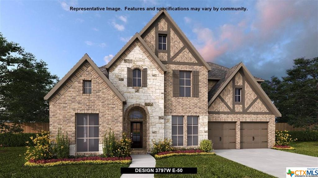 PERRY HOMES NEW CONSTRUCTION! Large porch area leads to a two-story entry with a 19-foot ceiling. Home office with French doors. Guest suite with a full bath and a large closet. Kitchen features an island with built-in seating space, lots of counter space, a 5-burner gas cooktop and a large walk-in pantry. Two-story dining area leads to the two-story family room with a wall of windows and a wood mantel fireplace. Secluded primary suite with a curved wall of windows. Double doors lead to primary bath with dual vanities, a garden tub, a separate glass-enclosed shower and two large walk-in closets. Second level features a game room, a media room with French doors and a guest suite with a full bath and a walk-in closet. Covered backyard patio. Mud room leads to the three-car garage.