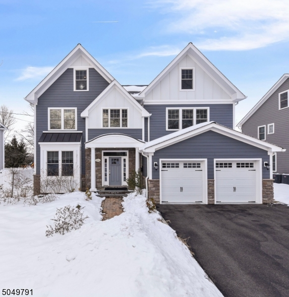 Spectacular 2019 custom designed Madison colonial-under a mile from train/town w/park-like yard, new paver patio, stone firepit & covered outdoor kitchen. Boasting over 5800 sqft, 10 foot ceilings & high quality details throughout, this home is every bit the showstopper that its renowned local architect designed it to be. Home features grand 2 story foyer, breathtaking kitchen w/huge center island that opens to great room, french sliders overlooking outdoor oasis (brand new covered kitchen & stone firepit lounge area) and the large level yard. Large mud room with custom built-ins leading to 2 car garage. Master bedroom with tray ceiling, immense walk-in closet and marble bath. Finished bright and spacious 3rd floor, and huge basement with 10 foot ceilings and an additional bedroom w/full bath & storage.