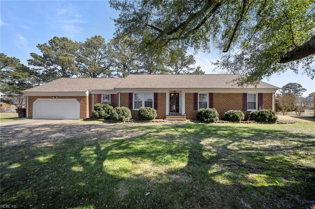 Welcome to your Lake Front Home in one of Portsmouth's Premier Neighborhoods - Green Lakes! A spacious 4 Bedroom Brick Ranch with attached 2 Car Garage. Features Newer: Roof, Windows, Heat Pump, Flooring, and Upgraded Kitchen.